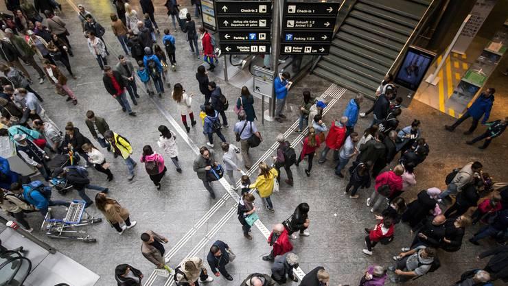 Jeder dritte Fluggast in Zürich-Kloten ist ein Transferpassagier.