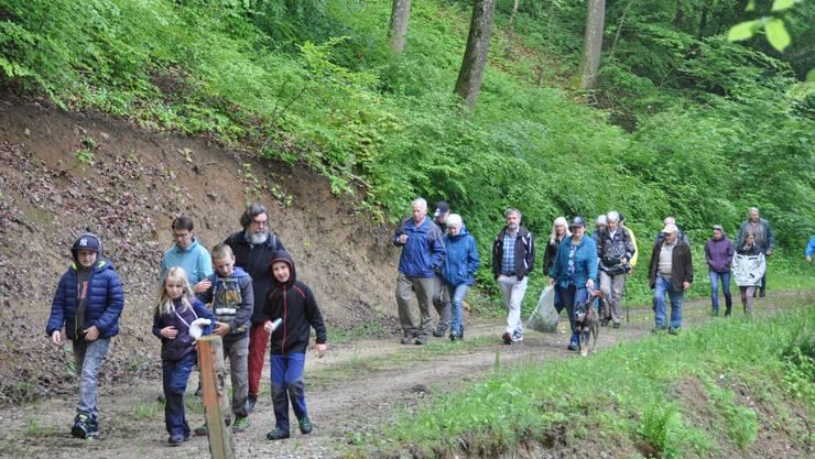 Auf dem Weg vom Gugli Richtung Galter Waldhütte