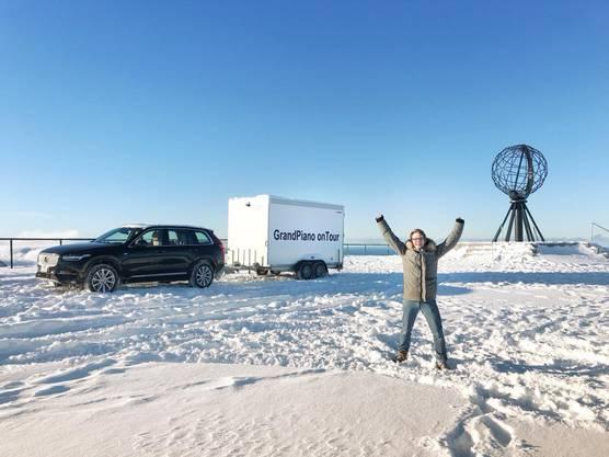 Gabriel Arnold hat es ans Nordkap geschafft