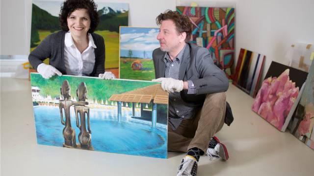 Das Kuratoren- und Ehepaar Schlatter & Fischer hat sich einst in einer Galerie kennen gelernt. Foto: Heike Grasser
