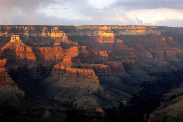 Der Grand Canyon bei Sonnenuntergang