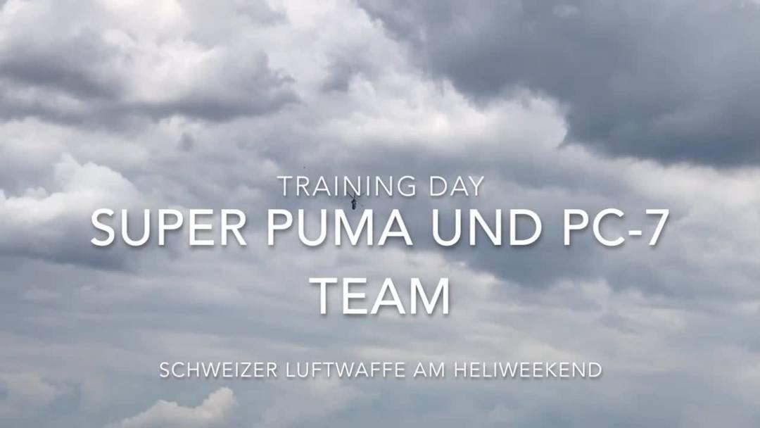Schweizer Luftwaffen am Heliweekend in Grenchen