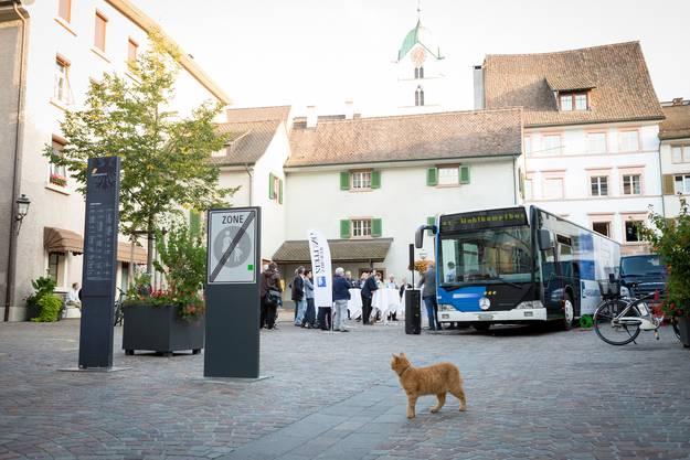 Mitten im ehemaligen Metzgerviertel hielt der Wahlkampfbus dieses Mal