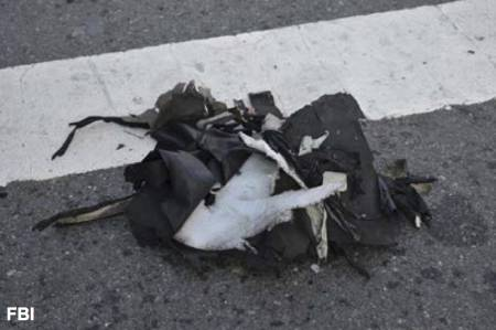 Die Reste des Kochtopfs, den das FBI als Sprengsatz identifiziert hat.