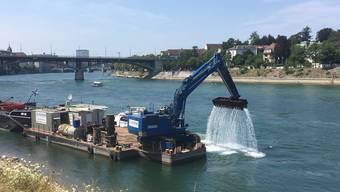 Schifffahrtsrinne auf dem Rhein in Basel wird tiefer gelegt