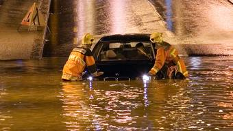 Ein immer häufiger auftretendes Phänomen: Hochwasser. Wie hier in Olten, 2007.