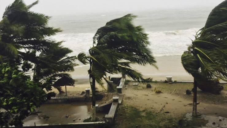 """Kräftige Windböen und Regenfälle: Der Sturm """"Enawo"""" forderte in Madagaskar mehrere Todesopfer."""