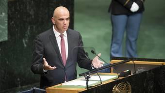 Alain Berset an der UNO-Vollversammlung