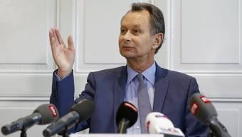 Ständerat Philipp Müller an der kurzfristig einberufenen Medienkonferenz: «Man sollte gehen, wenn es am schönsten ist.»