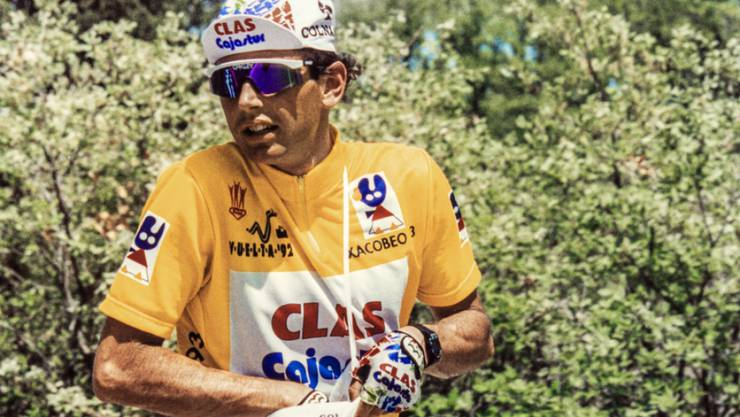 Tony Rominger auf dem Weg zu seinem ersten Vuelta-Sieg 1992