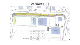 Ein Plan der Bauvariante 3a