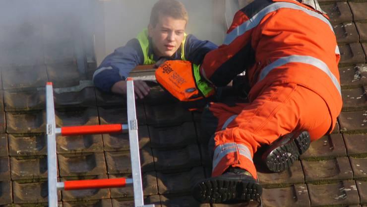 Hauptübung Feuerwehr Birmensdorf-Aesch