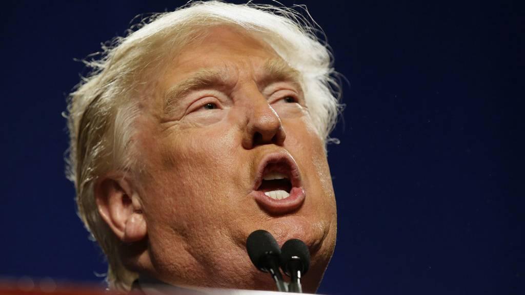 Donald Trump bei den Vorwahlen zur US-Präsidentschaftswahl.