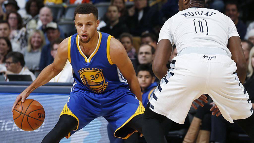 Stephen Curry und die Golden State Warriors sind in der NBA derzeit nicht zu stoppen