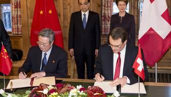 Schweizerisch-chinesisches Spitzentreffen in Davos