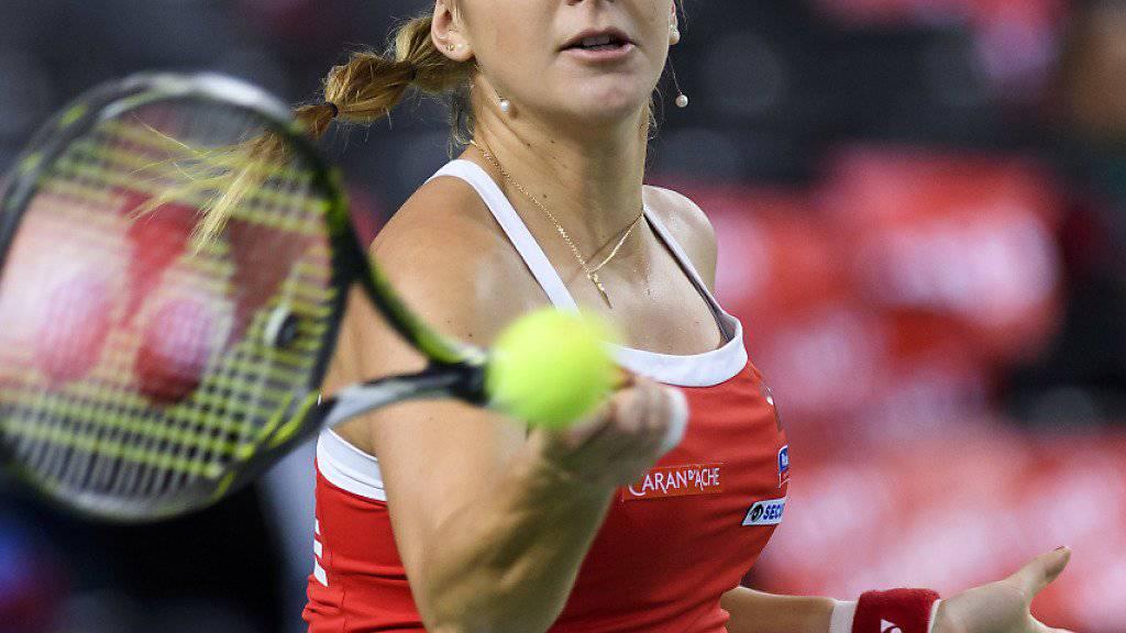 Sieg zum  Auftakt in Linz: Belinda Bencic