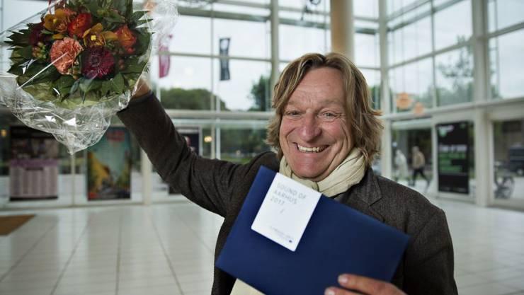 """Der Zürcher Klangkünstler Andres Bosshard freut sich, dass er den Wettbewerb """"Sound Of Aarhus 2017"""" zum Kulturhauptstadtjahr gewonnen hat (zVg)."""