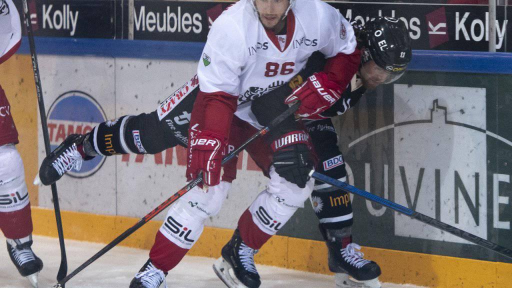 Dario Trutmann (Nummer 86) spielt ab der nächsten Saison für die ZSC Lions