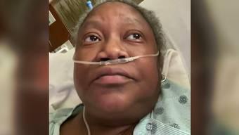 Die verstorbene Ärztin Susan Moore in ihrem Handy-Video, das vor Weihnachten auf den Sozialen Medien auftauchte.