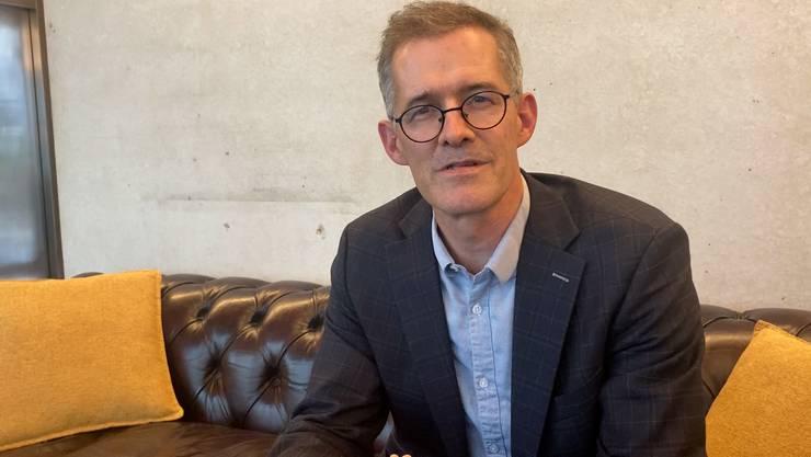 Selbst nicht für den Flyer verantwortlich: Stadtratskandidat Stefan Jaecklin (FDP)