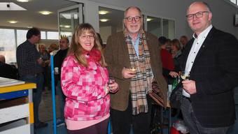 Freuen sich auf das 2019: Von links die Gemeinderäte Barbara Bilger Arnold Näf und Ammann Andreas Wanzenried