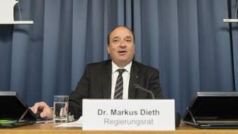 Finanzdirektor Markus Dieth (CVP) sagte, man wolle die kantonale Umsetzung nutzen, um den Aargau nicht dem interkantonalen Steuerwettbewerb auszusetzen. (Archiv)