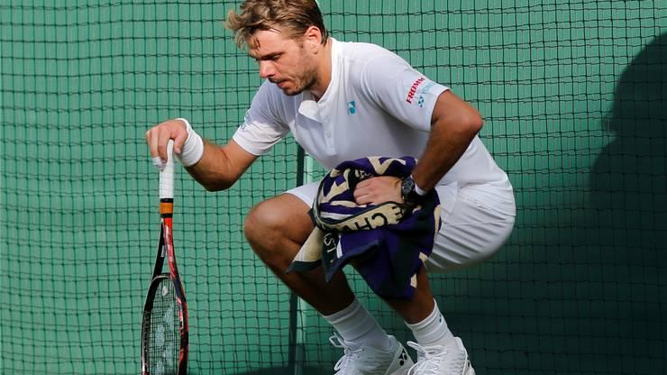 Gequält zeigte sich Stan Wawrinka beim Grand-Slam-Turnier von Wimbledon