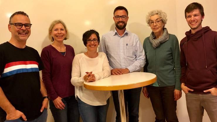 v.l. Reto Bianchi (GLP), Denise Keller Xenaki (CVP), Christine Knüsel (CVP), Raphael Markstaller (GLP), Katharina Neuhaus (SP), Marius Fedeli (SP)