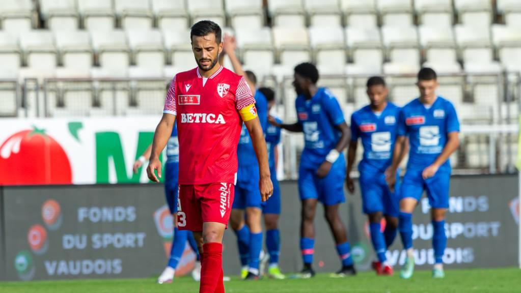 Jubelnde Lausanner, enttäuschte Sittener (Matteo Tosetti): Stade Lausanne-Ouchy deklassiert den FC Sion.