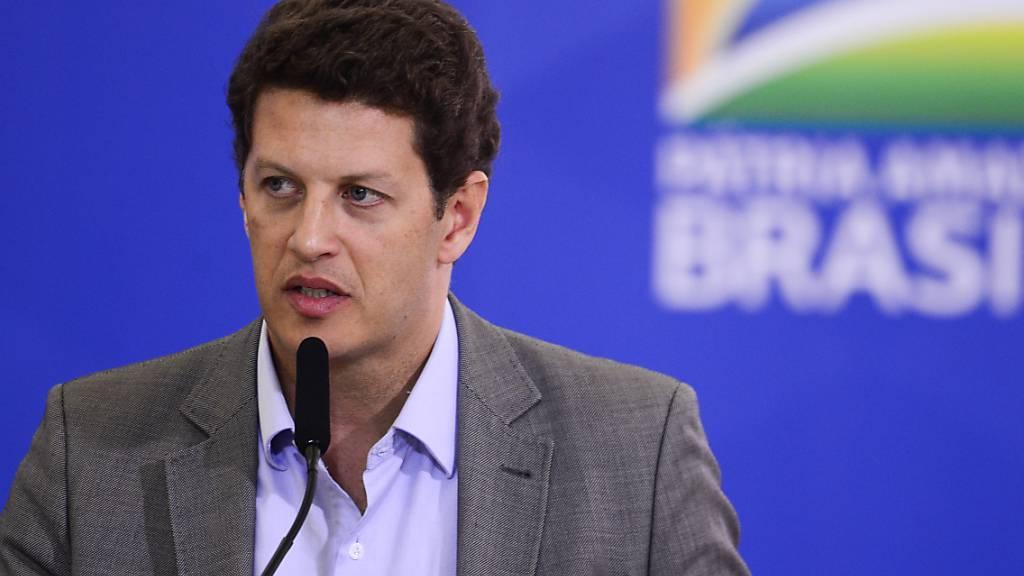 ARCHIV - Ricardo Salles, Minister für Umwelt von Brasilien, ist positiv auf das Coronavirus getestet worden. Foto: Marcelo Camargo/Agencia Brazil/dpa - ACHTUNG: Nur zur redaktionellen Verwendung und nur mit vollständiger Nennung des vorstehenden Credits