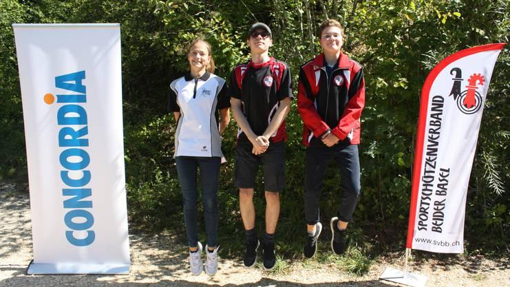 von links Laura Steiner, Tamas Göcze, Aidan Sturm.
