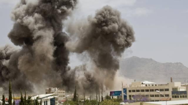 Saudiarabischer Luftangriff auf die jemenitische Hauptstadt Sanaa