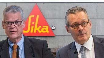 Mitglied der Gründerfamilie Urs Burkard (links) und Sika-Verwaltungsratspräsident Paul Hälg.