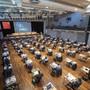 Der Schwyzer Kantonsrat tagt wegen der Coronapandemie im Mythen-Forum in Schwyz.