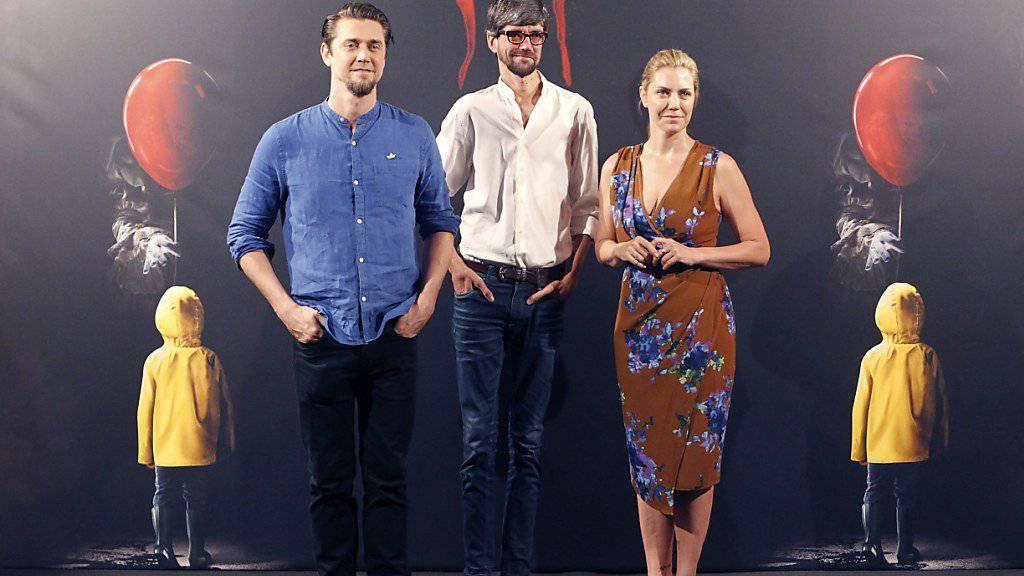 Sind erfolgreich am Start: Der argentinische «It»-Regisseur Andres Muschietti (Links), seine Schwester und Produzentin Barbara Muschietti sowie der spanische Schauspieler Javier Botet. (Archivbild)