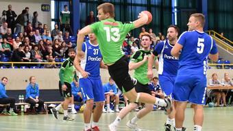 Oltens Jan Peter im ersten Saisonspiel gegen Dagmersellen (23:15).
