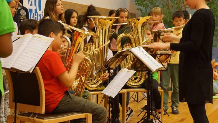 Die Bläserklassen treten regelmässig auf, so u.a. am Frühlingskonzert der Musikschule am 8. April.