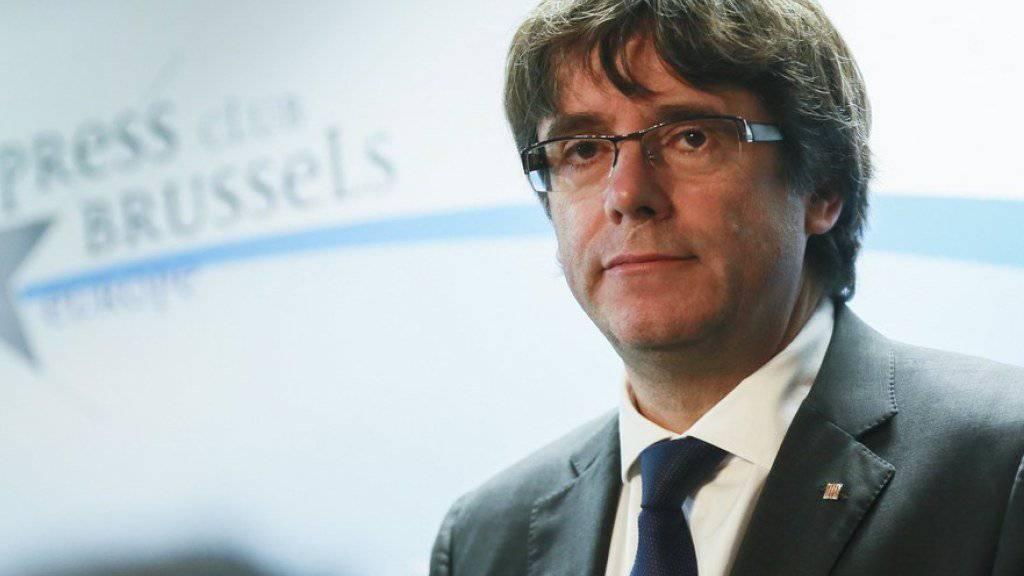Er hat sich der belgischen Polizei gestellt: Kataloniens abgesetzter Regierungschef Carles Puigdemont. (Archiv)