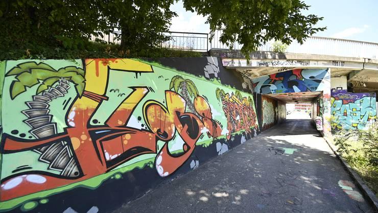 """""""Legale"""" Sprayerwand beim Nordbahnhof Grenchen"""