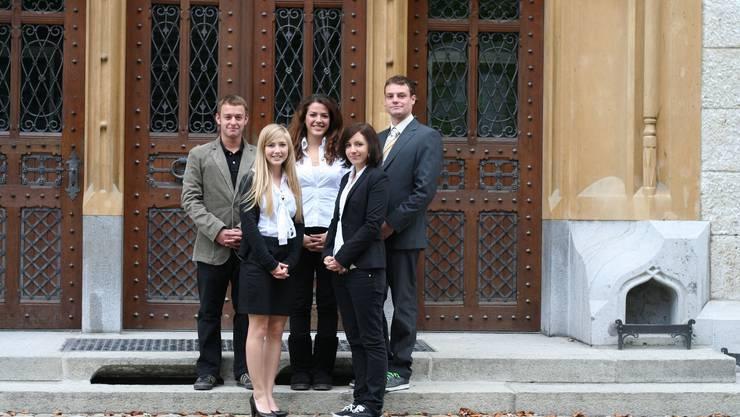 Sie haben die «Vicci-Line» entwickelt: Nicholas Hänny, Anna Krebs, Vanja Gudalo, Lara Vogt und Pascal Hodel (von links). Foto: zvg