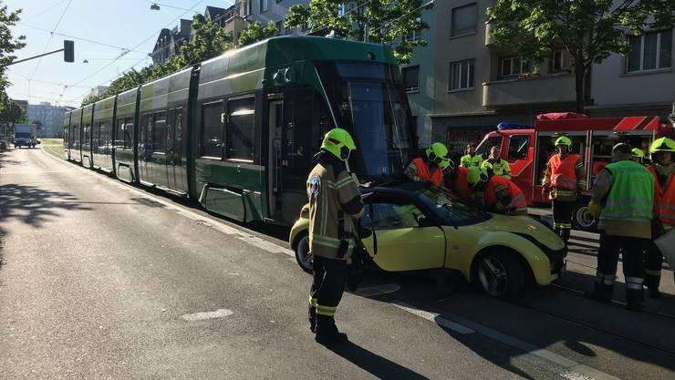Der Unfall geschah am Dienstagmorgen.