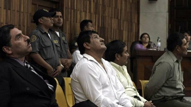 Die vier ehemaligen Soldaten bei der Urteilsverkündigung
