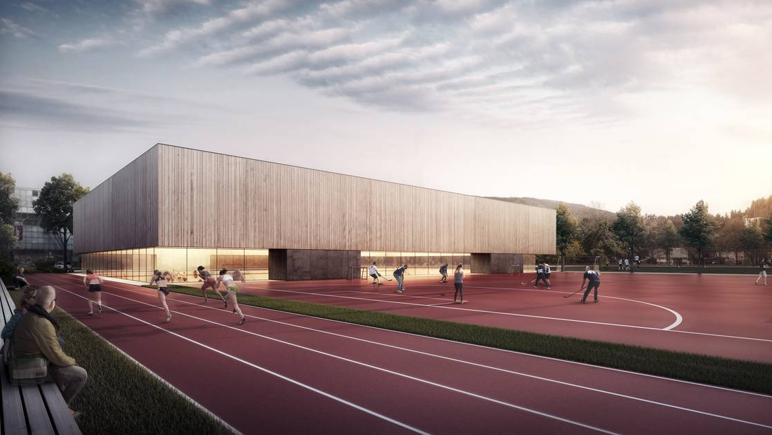 Die Dreifachturnhalle dient gleichermassen den kantonalen Schulen wie auch der Volksschule und den Vereinen.