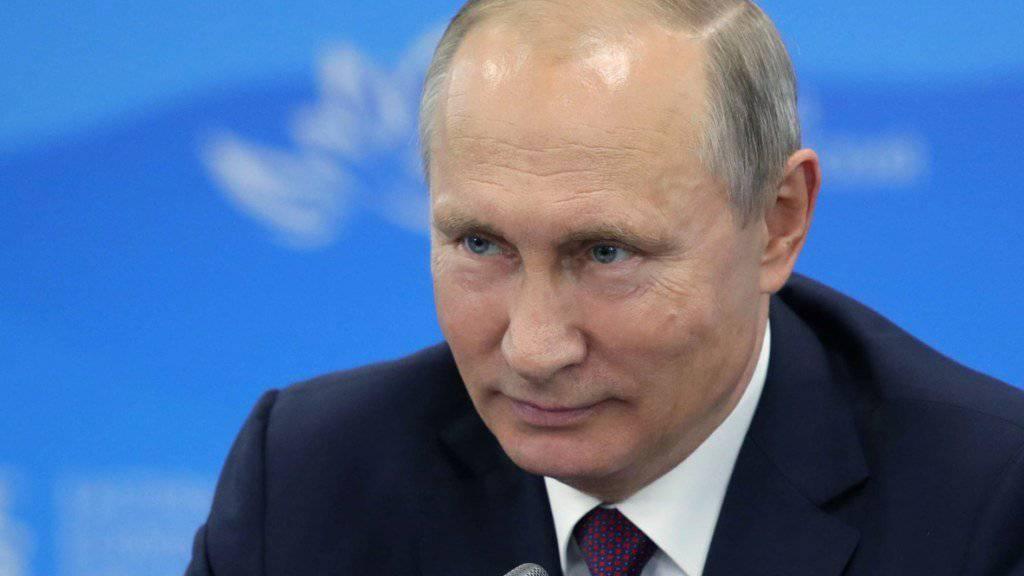 Der russische Präsident Wladimir Putin bezeichnete die Zerstörung der Chemiewaffen als «historisches Ereignis». (Archiv)