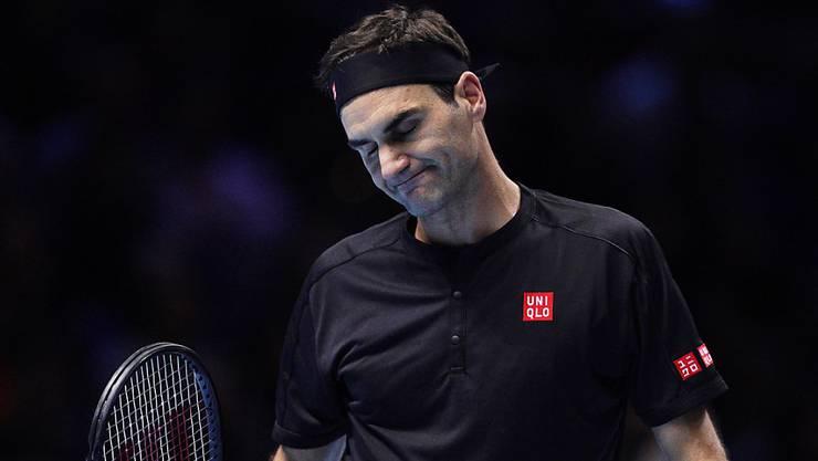 Nicht wie gewünscht ins Spiel gekommen: Roger Federer zeigte sich nach der Niederlage gegen Dominic Thiem selbstkritisch.