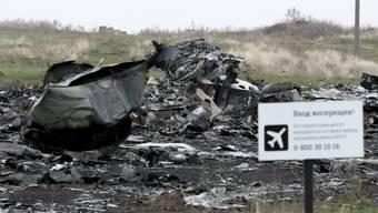 Absturzstelle des Flugs MH17 in der Ostukraine. (Archivbild)