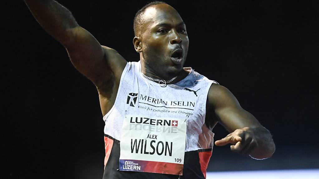 Alex Wilson glaubt mittlerweile an die am Sonntag gelaufene 100-m-Zeit.