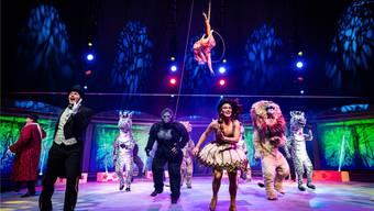 Sänger, Tänzer, Tiere und Artisten: Auf der Bühne des Knie-Musicals herrscht durchgehend viel Betrieb. Lukas Pitsch