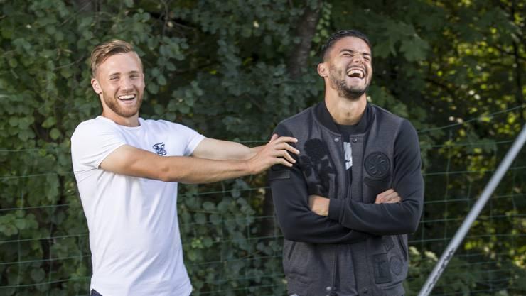 Portrait von Silvan Widmer und Loris Benito von den Young Boys und dem FC Basel, welche am kommenden Sonntag (23.9) gegeneinander auf dem Feld stehen werden. (20. September 2018)