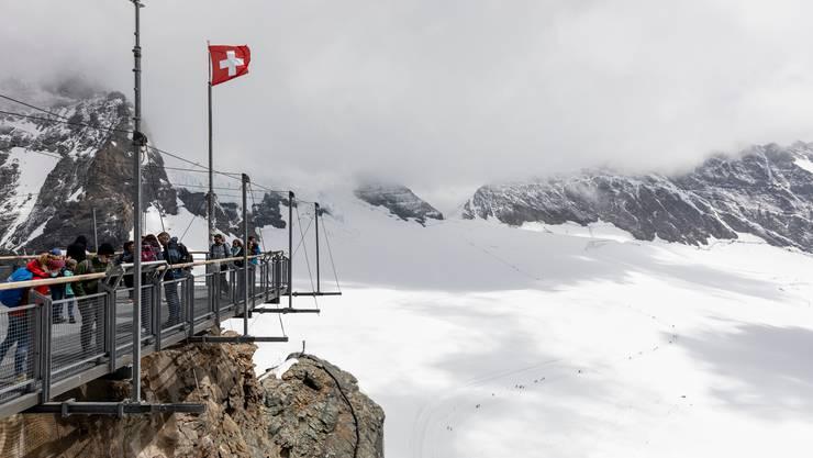 Dieses Jahr leerer als sonst: Aussichtsplattform auf dem Jungfraujoch.